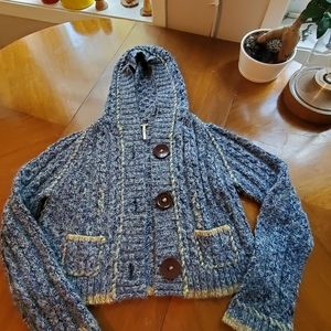 Free people sweater with hood